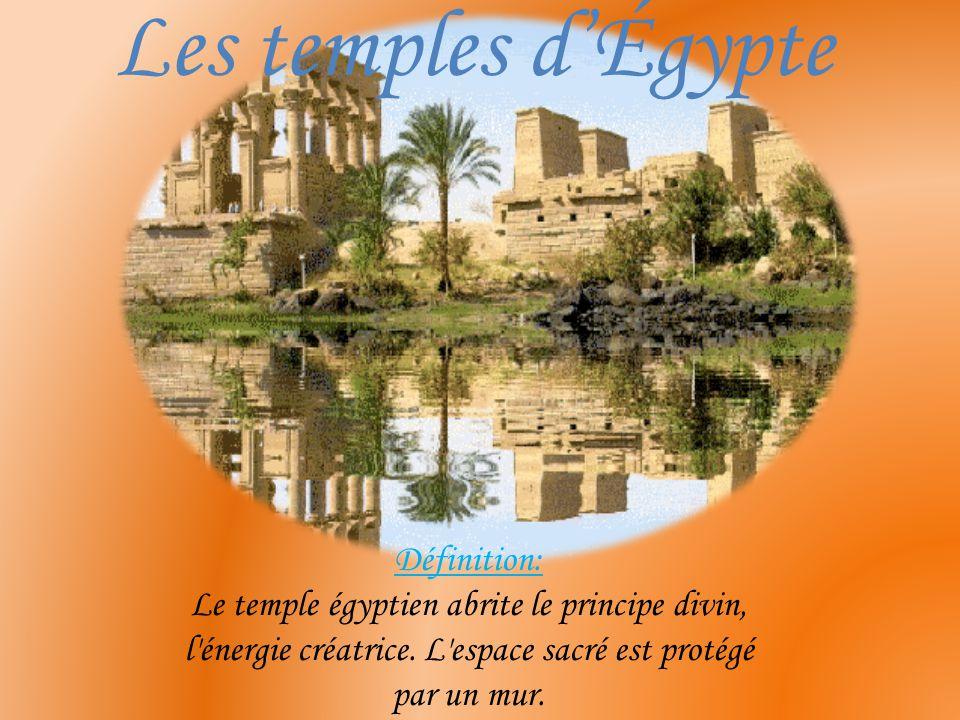 Les temples d'Égypte Définition:
