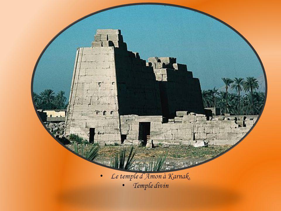 Le temple d'Amon à Karnak.