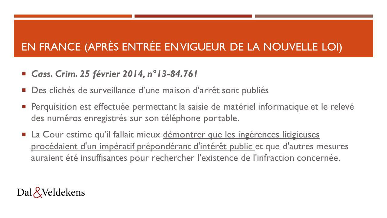 EN France (après entrée en vigueur de la nouvelle loi)