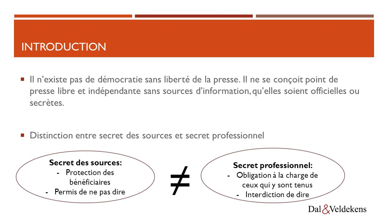Secret professionnel: