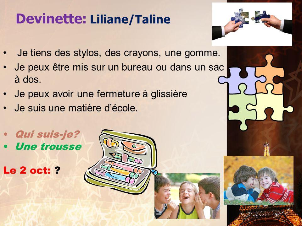 Devinette: Liliane/Taline