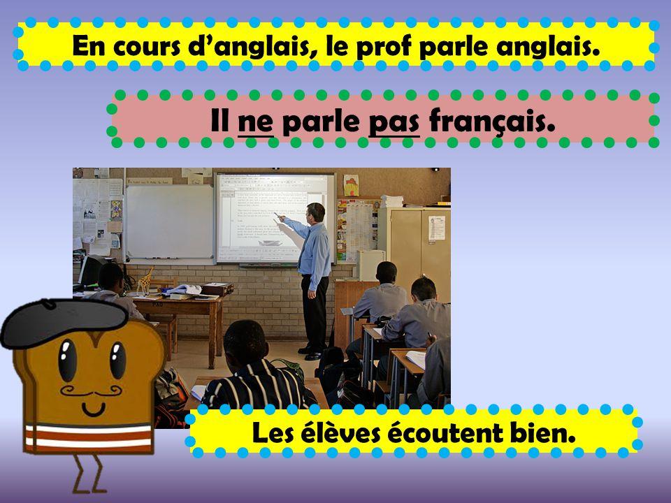 Il ne parle pas français.