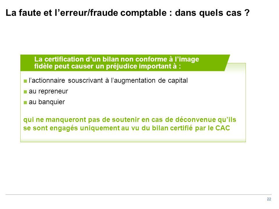 La faute et l'erreur/fraude comptable : moyens de défense du CAC