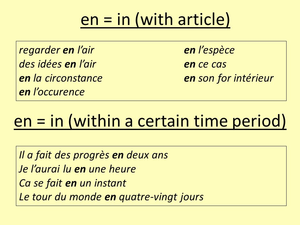 en = in (within a certain time period)
