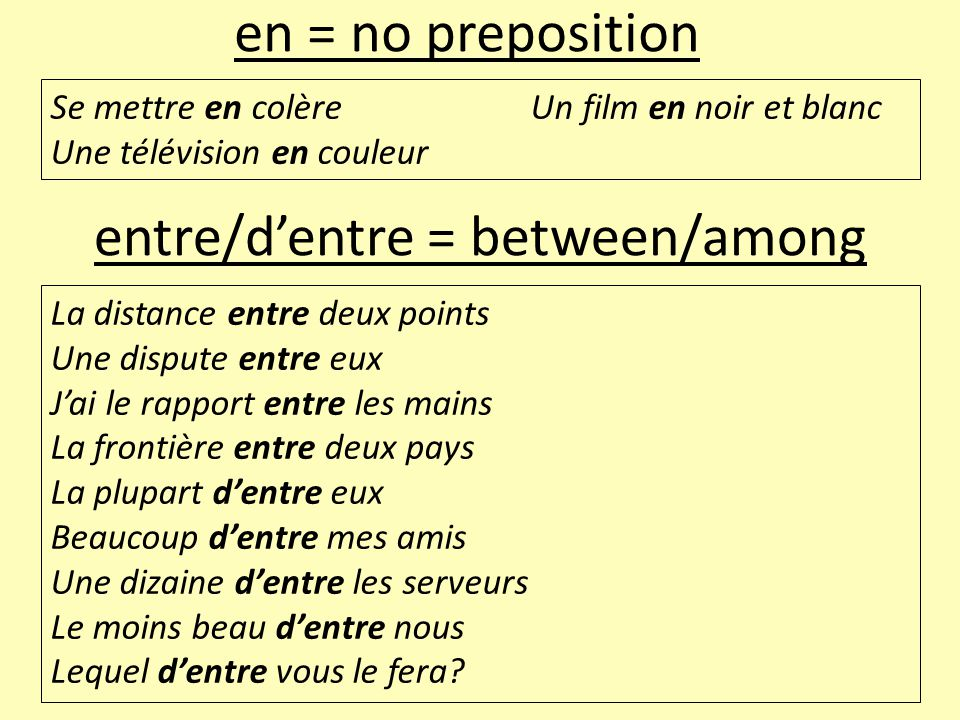entre/d'entre = between/among