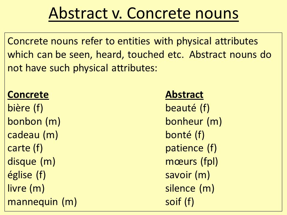 essay using abstract nouns The noun phrase what does a noun there are many different types of nouns: common noun, proper noun, abstract if you are the original writer of this essay and.