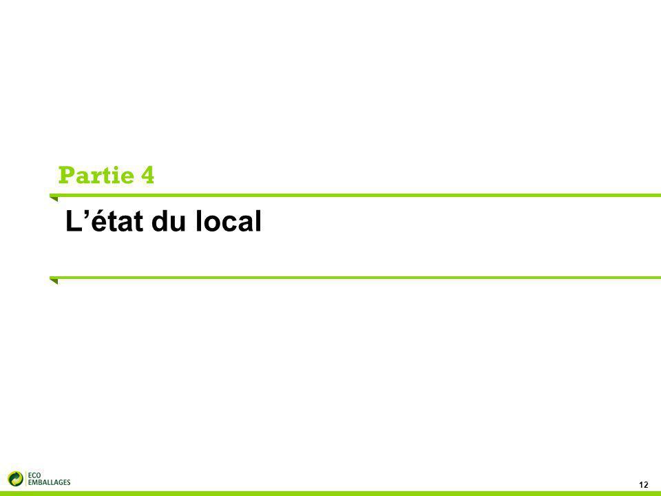 Partie 4 L'état du local