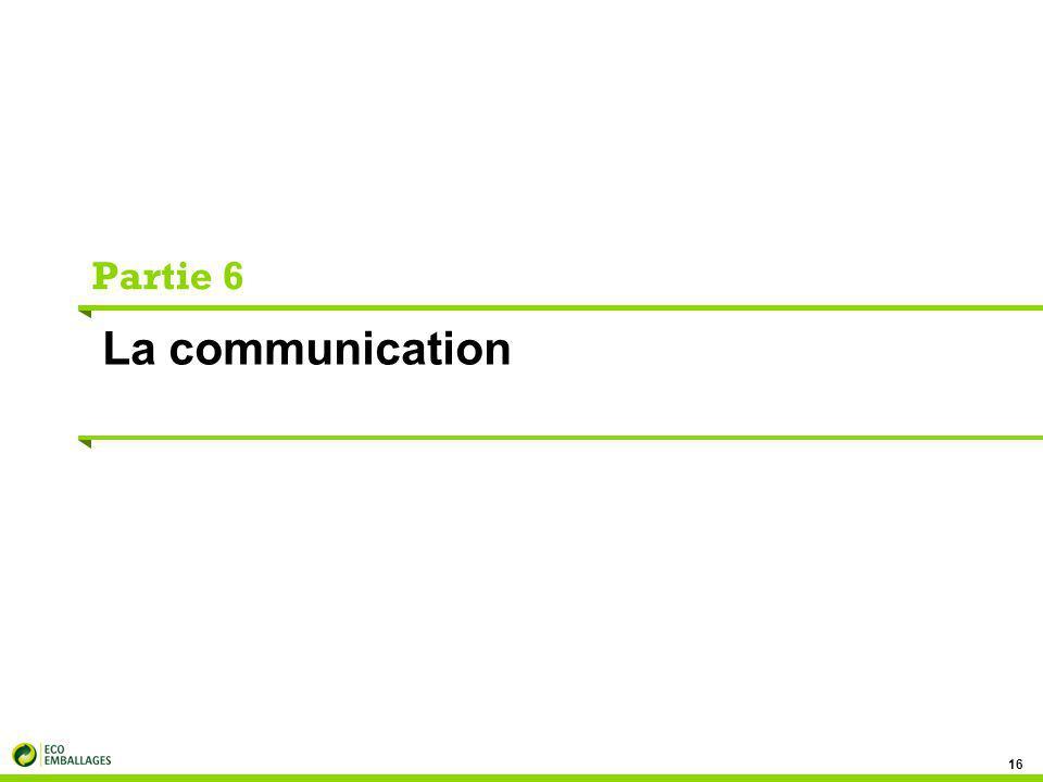 Partie 6 La communication