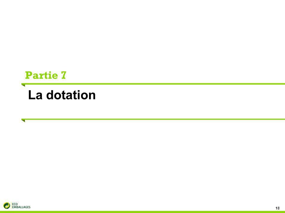 Partie 7 La dotation