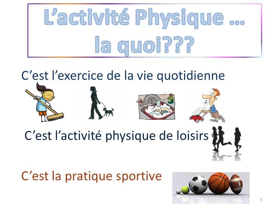L'activité Physique … la quoi