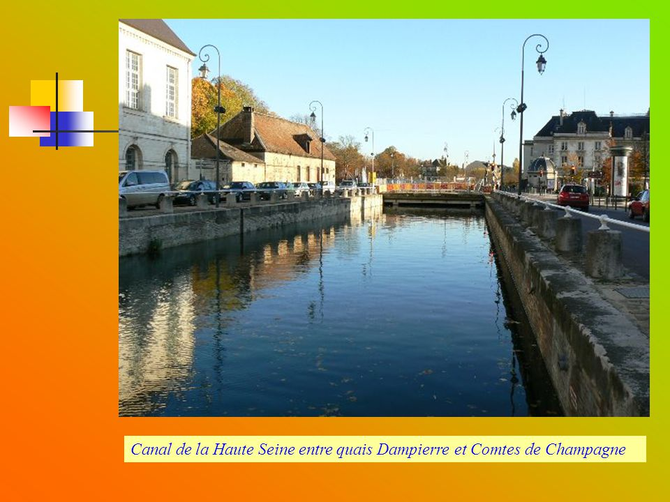 Canal de la Haute Seine entre quais Dampierre et Comtes de Champagne