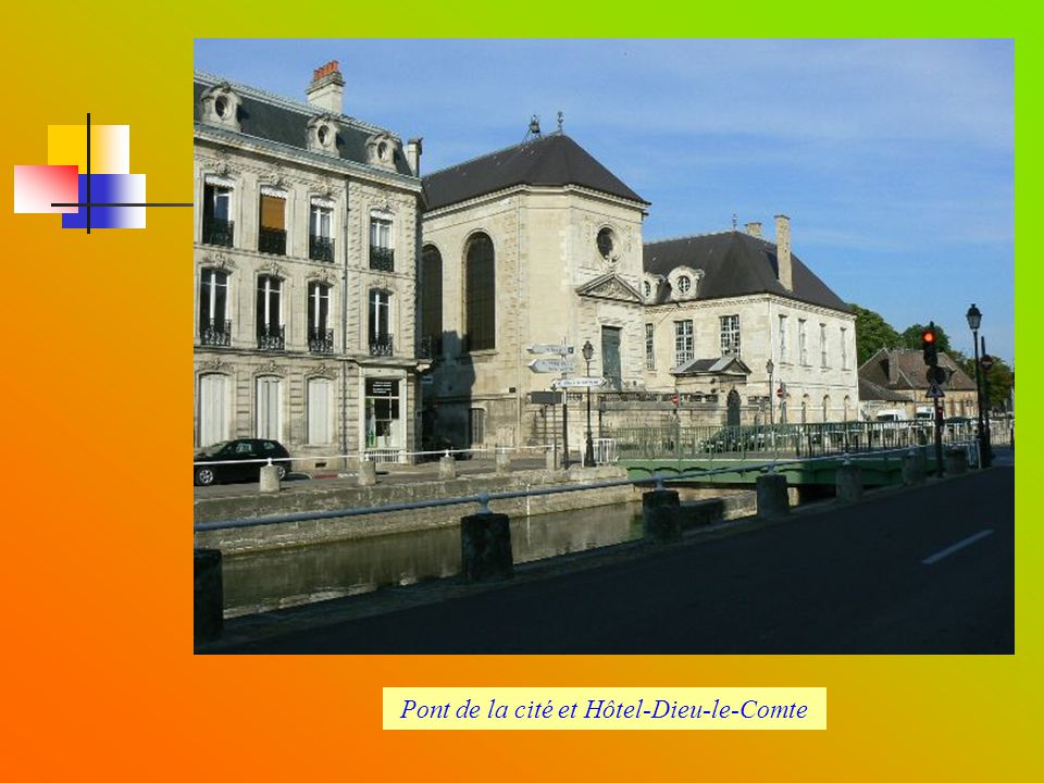 Pont de la cité et Hôtel-Dieu-le-Comte