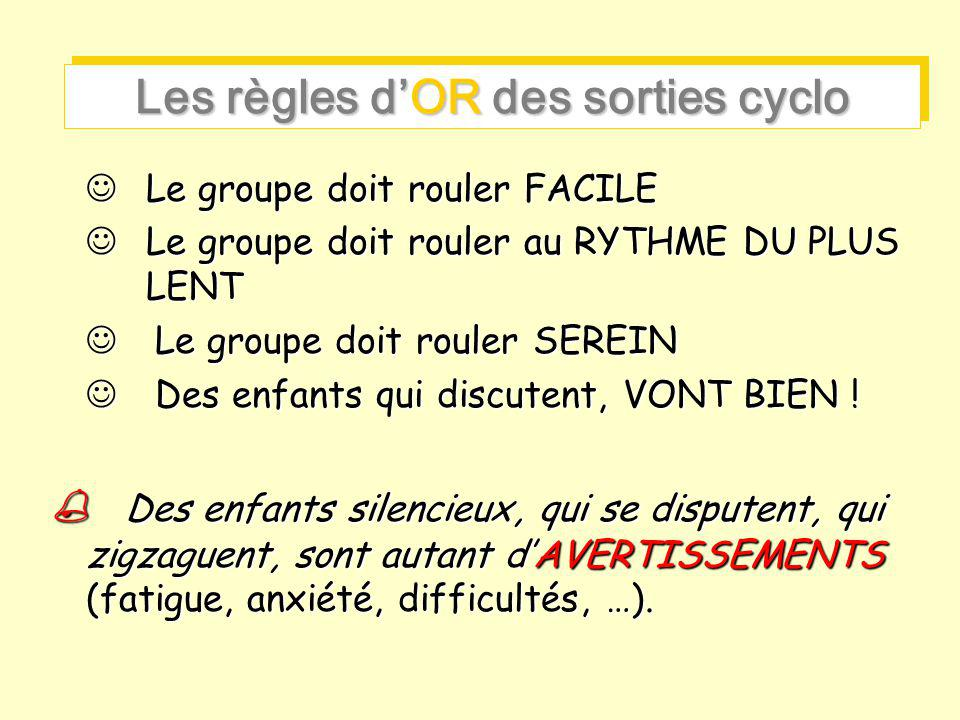 Les règles d'OR des sorties cyclo