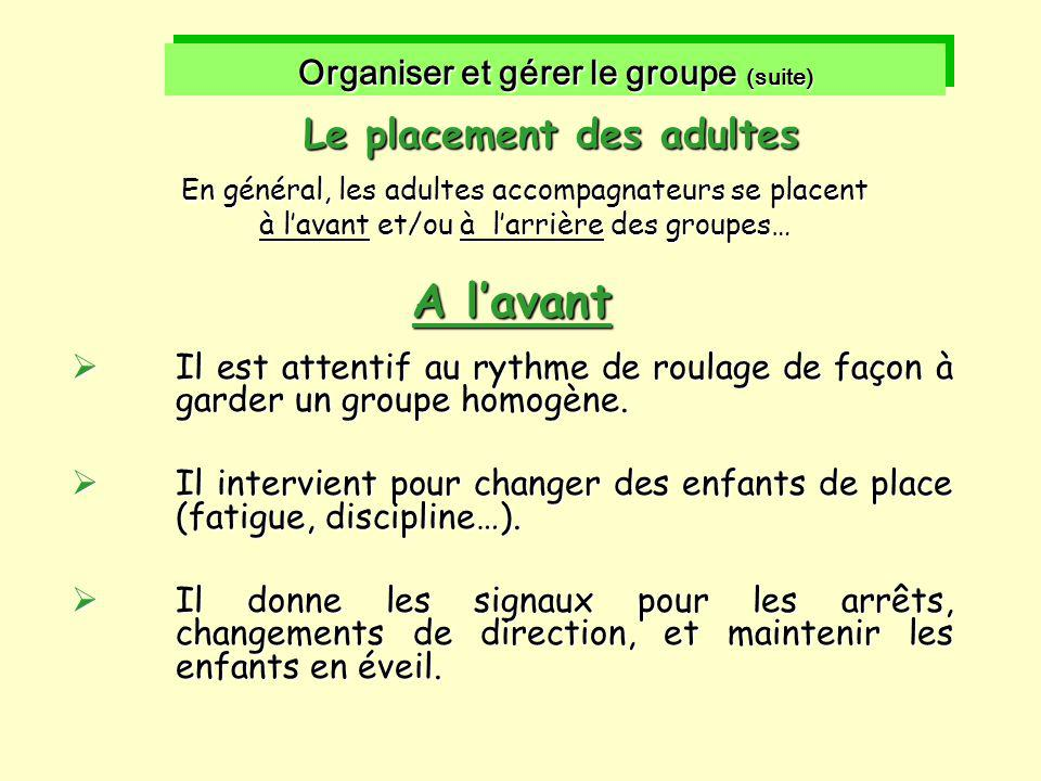 Organiser et gérer le groupe (suite)