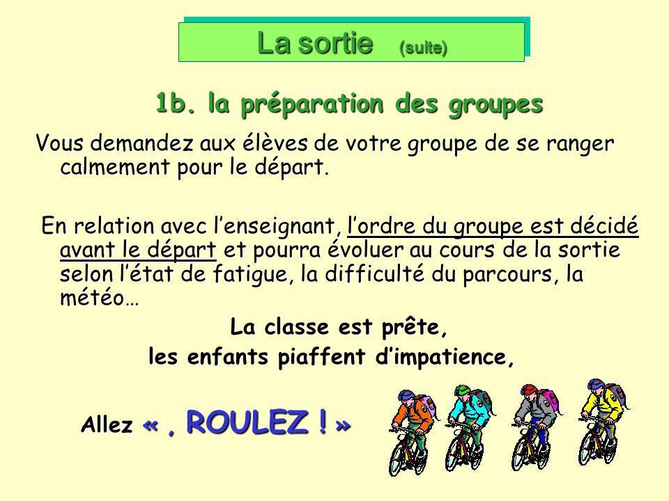 1b. la préparation des groupes
