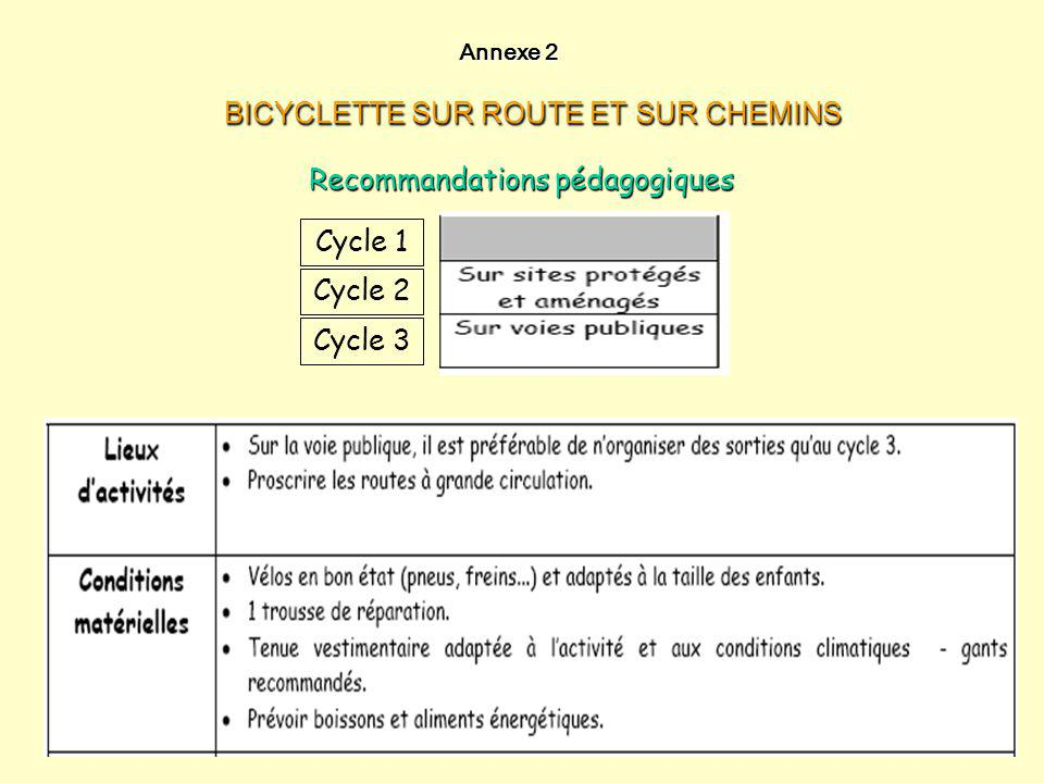 BICYCLETTE SUR ROUTE ET SUR CHEMINS