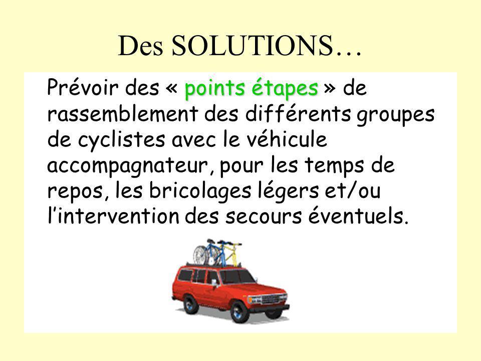 Des SOLUTIONS…