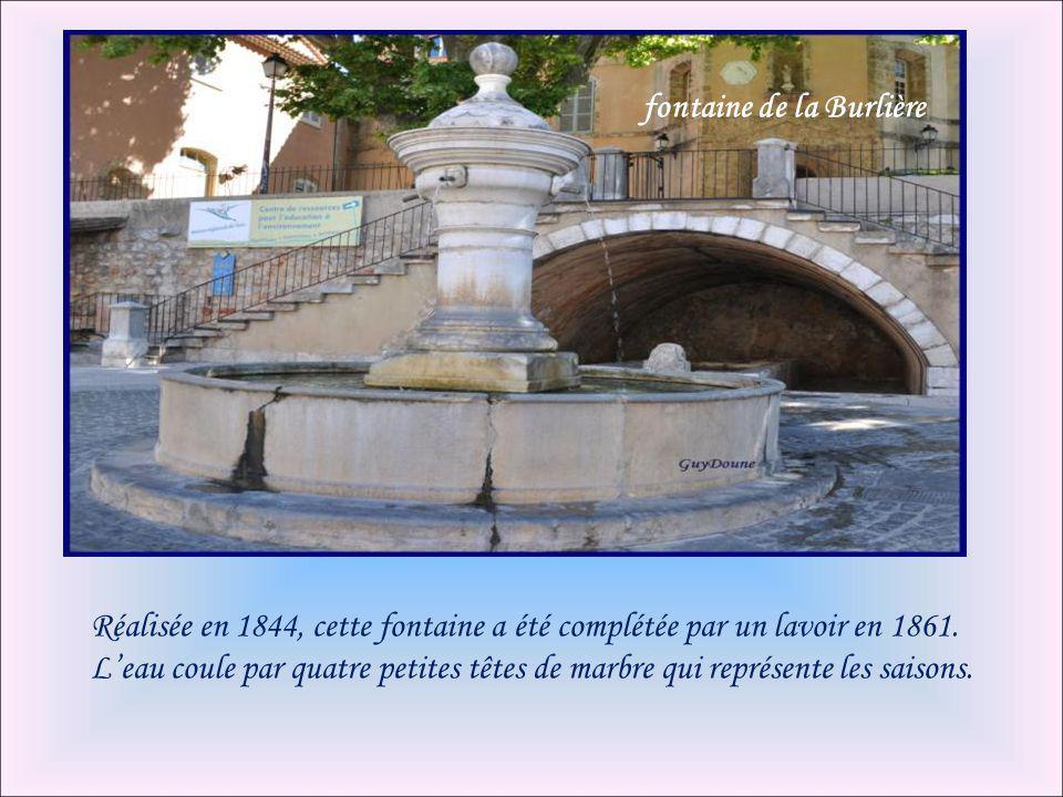 fontaine de la Burlière