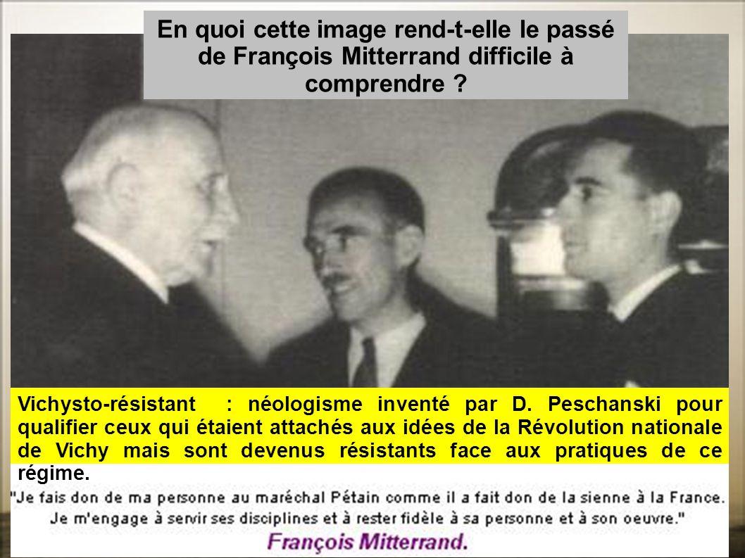 En quoi cette image rend-t-elle le passé de François Mitterrand difficile à comprendre