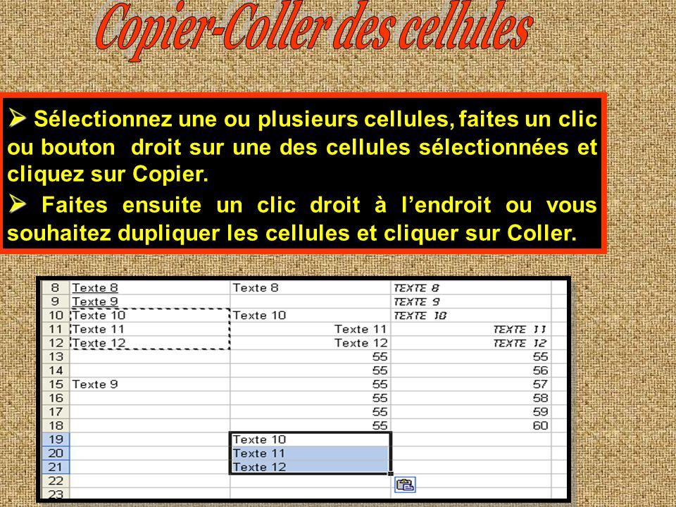 Copier-Coller des cellules