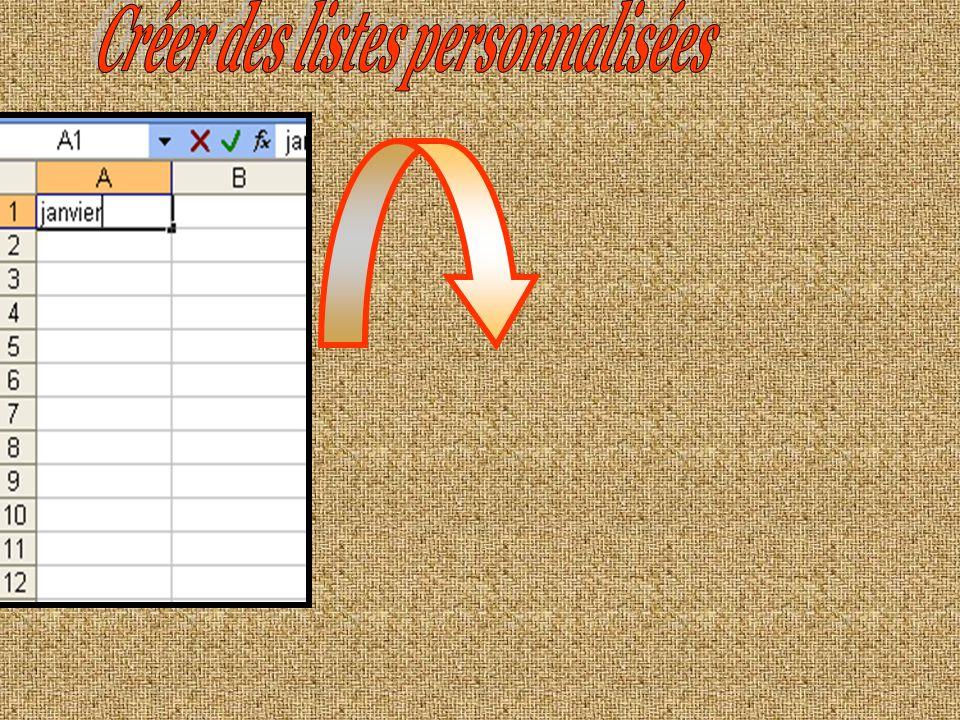 Créer des listes personnalisées