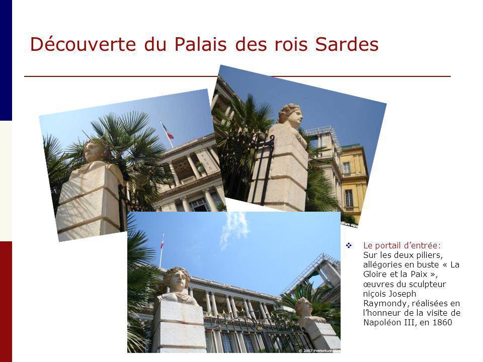 Découverte du Palais des rois Sardes