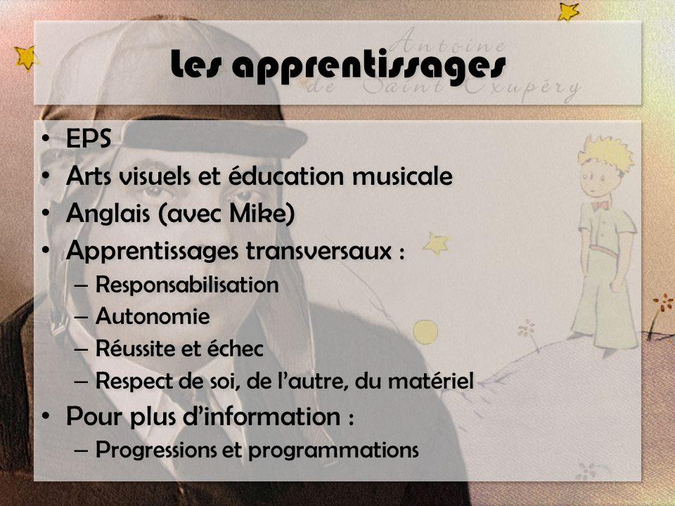 Les apprentissages EPS Arts visuels et éducation musicale