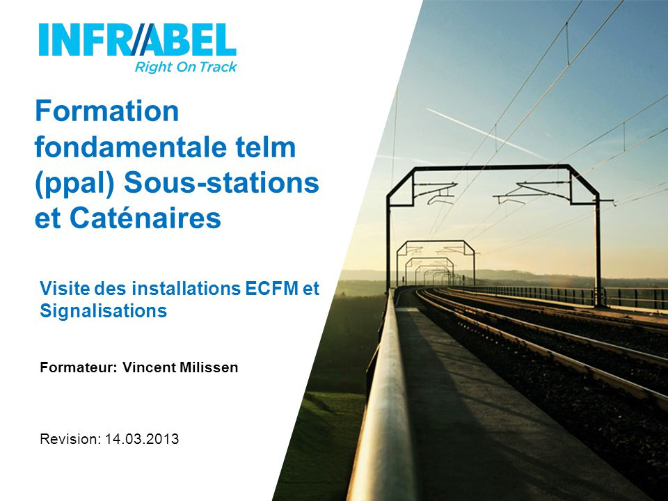 Formation fondamentale telm (ppal) Sous-stations et Caténaires
