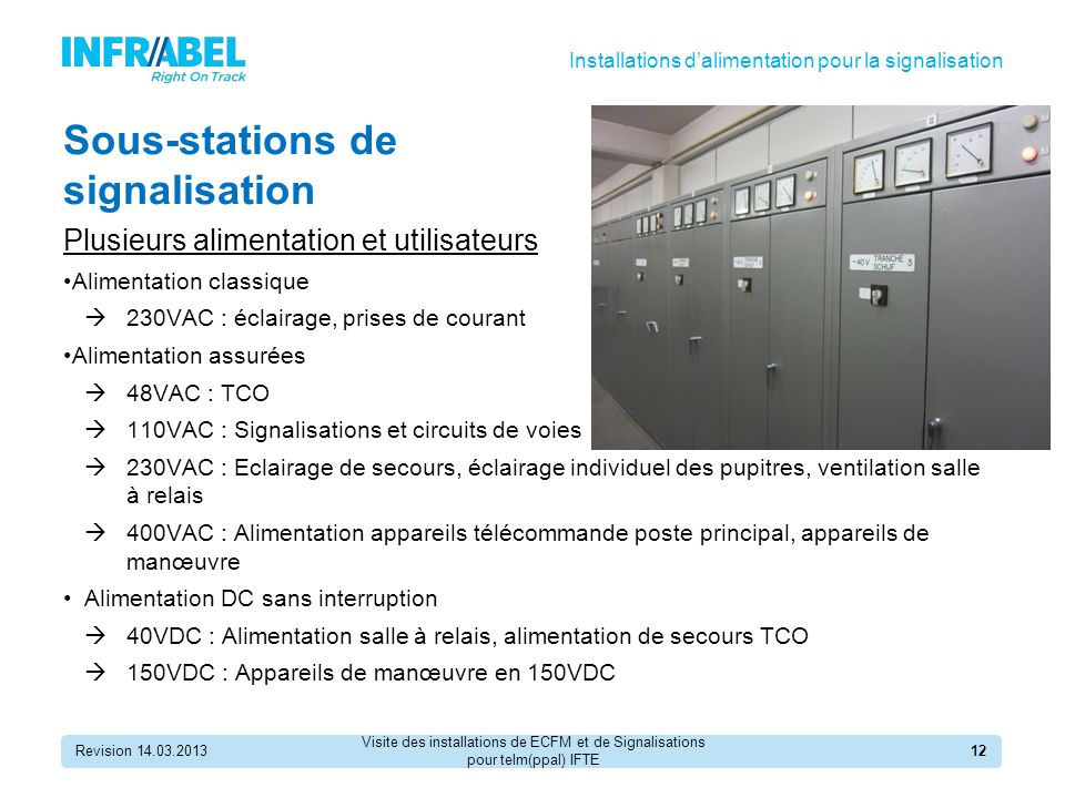 Sous-stations de signalisation