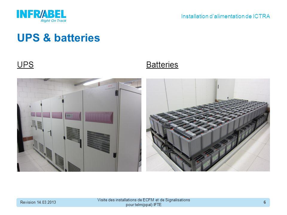 UPS & batteries UPS Batteries Installation d'alimentation de ICTRA