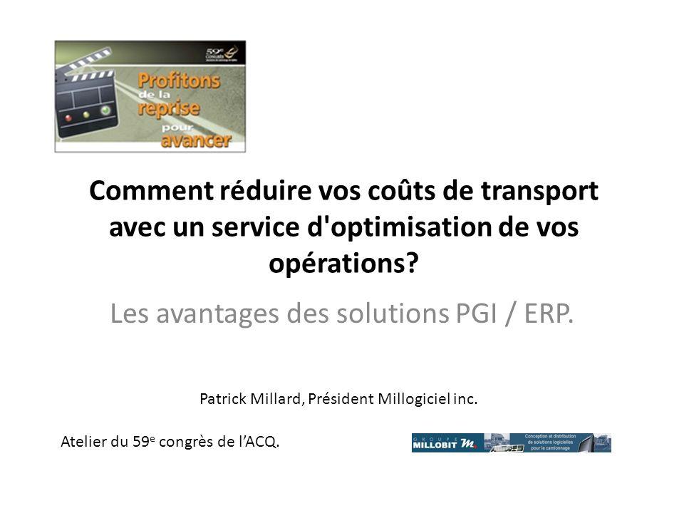 Les avantages des solutions PGI / ERP.