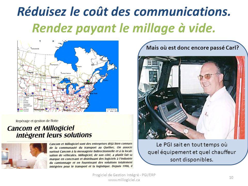 Réduisez le coût des communications. Rendez payant le millage à vide.