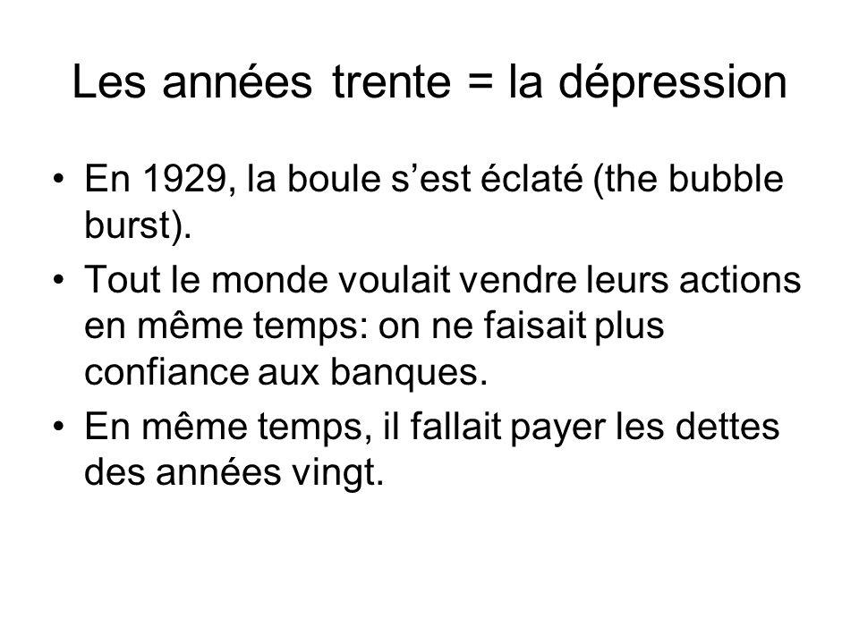 Les années trente = la dépression