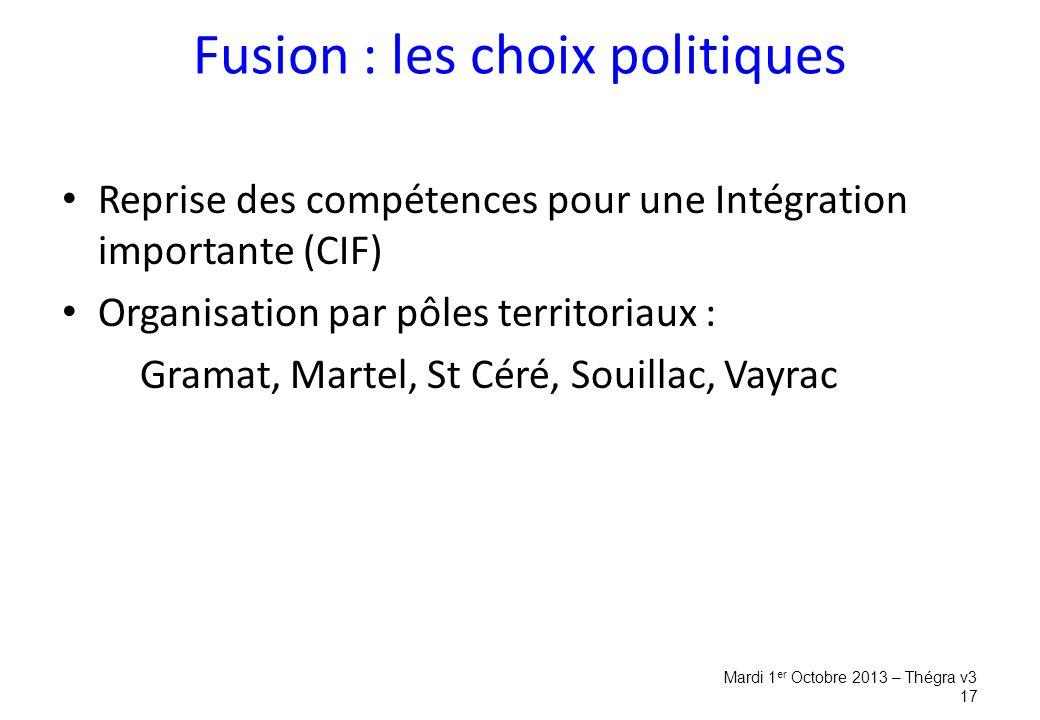 Fusion : les choix politiques