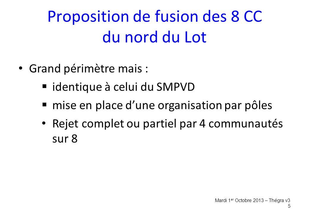 Proposition de fusion des 8 CC