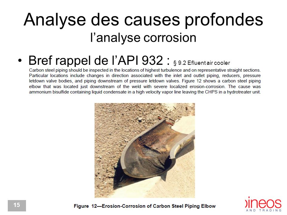 Analyse des causes profondes l'analyse corrosion
