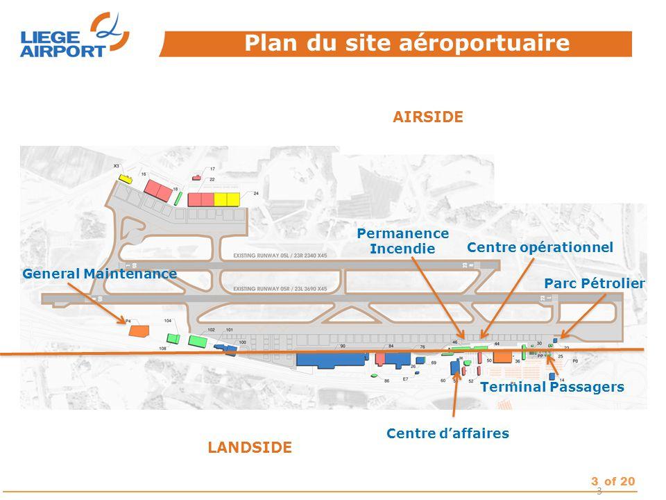 Plan du site aéroportuaire
