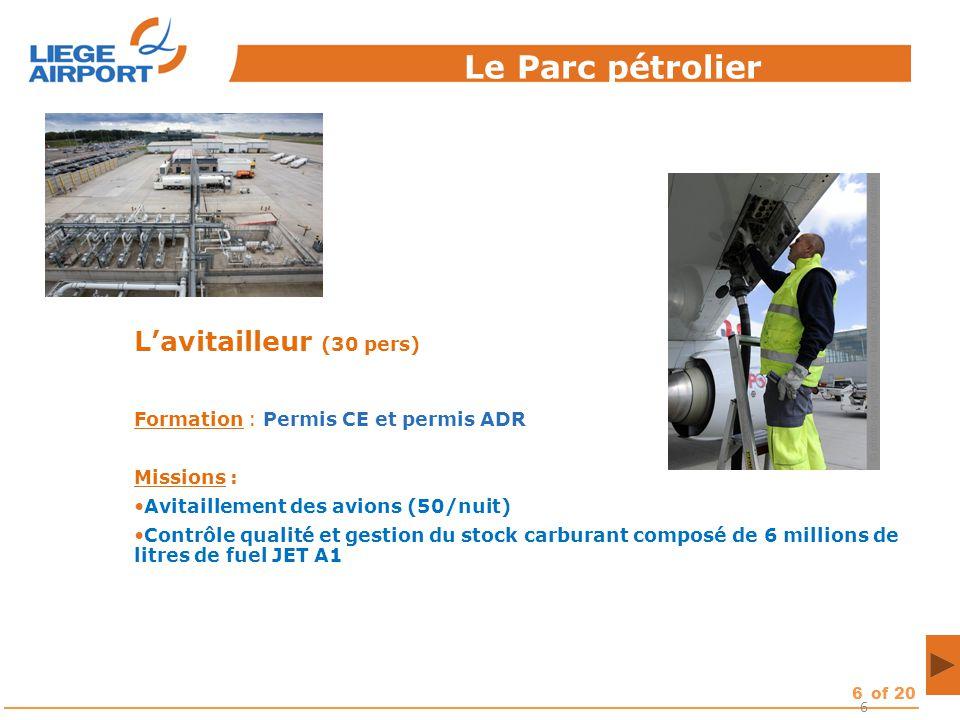 Le Parc pétrolier L'avitailleur (30 pers)