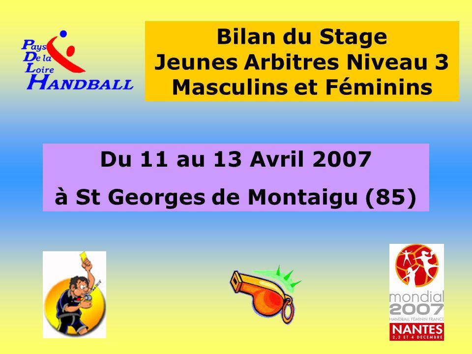 Bilan du Stage Jeunes Arbitres Niveau 3 Masculins et Féminins