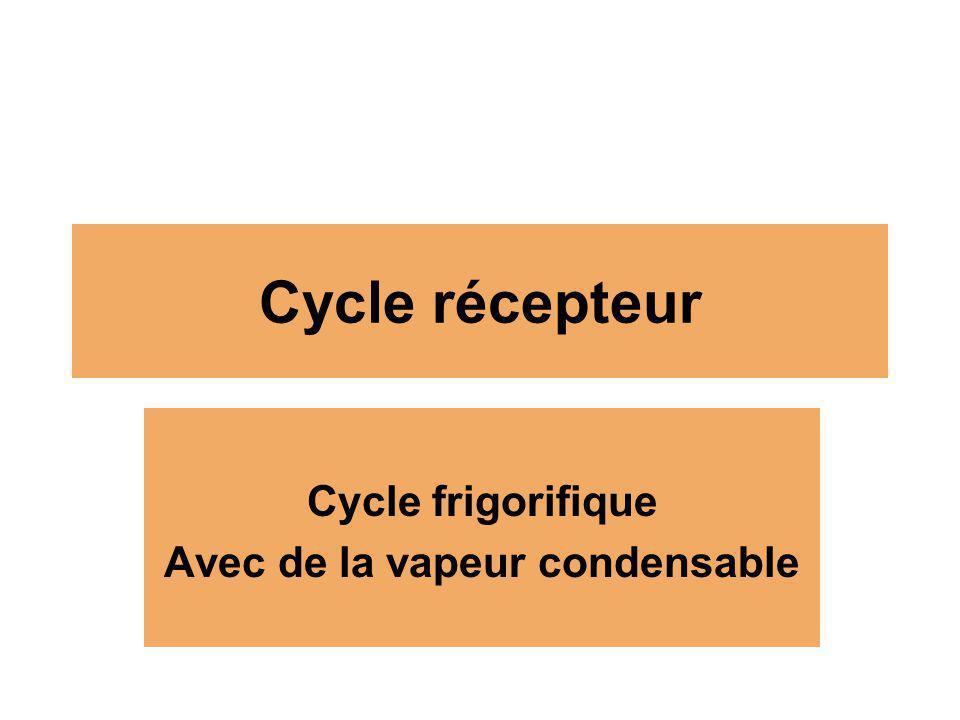 Cycle frigorifique Avec de la vapeur condensable