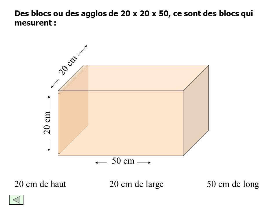 20 cm 20 cm 50 cm 20 cm de haut 20 cm de large 50 cm de long