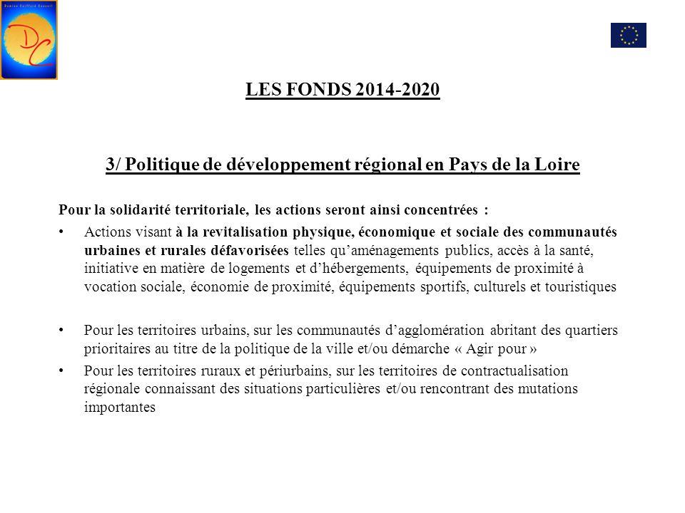 3/ Politique de développement régional en Pays de la Loire