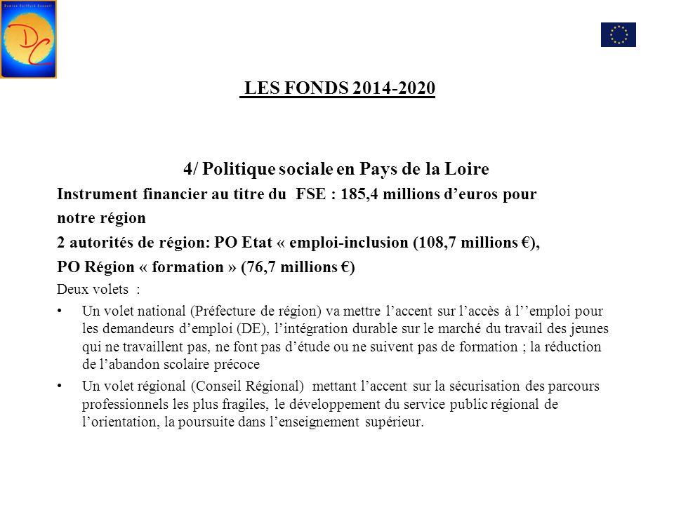 4/ Politique sociale en Pays de la Loire