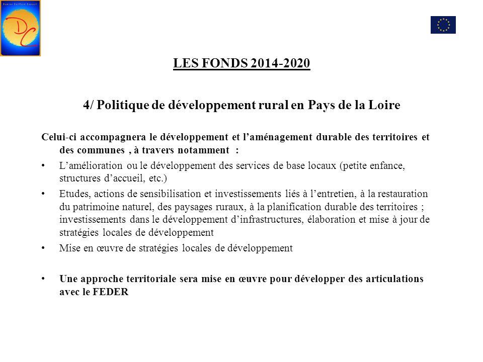 4/ Politique de développement rural en Pays de la Loire