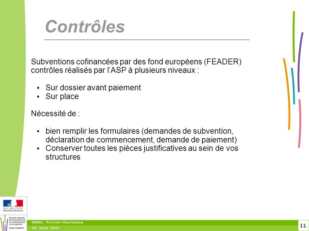 Contrôles Subventions cofinancées par des fond européens (FEADER) contrôles réalisés par l'ASP à plusieurs niveaux :