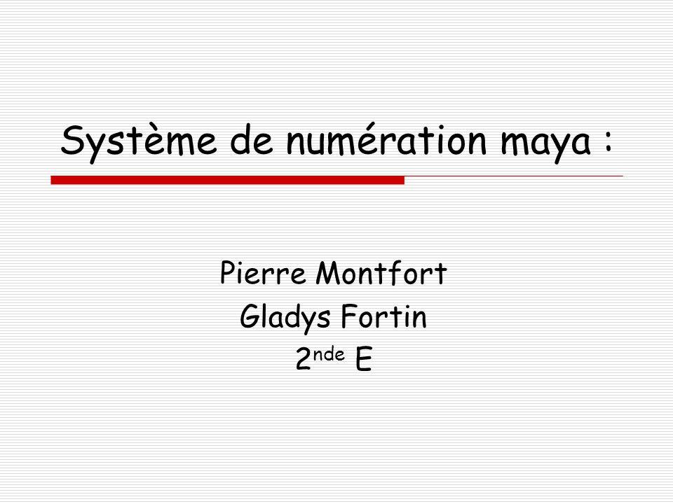 Système de numération maya :