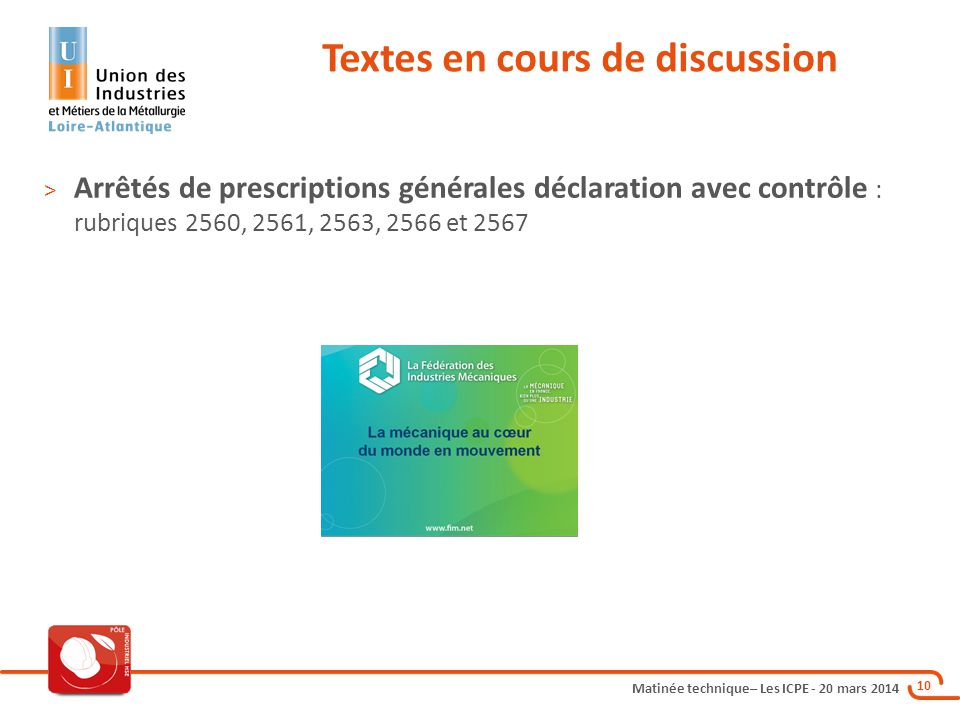 Textes en cours de discussion