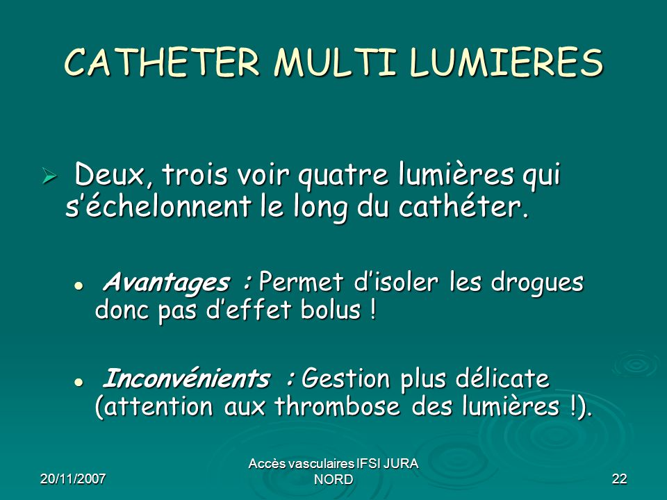 CATHETER MULTI LUMIERES