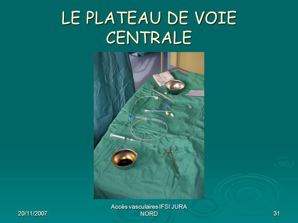 LE PLATEAU DE VOIE CENTRALE