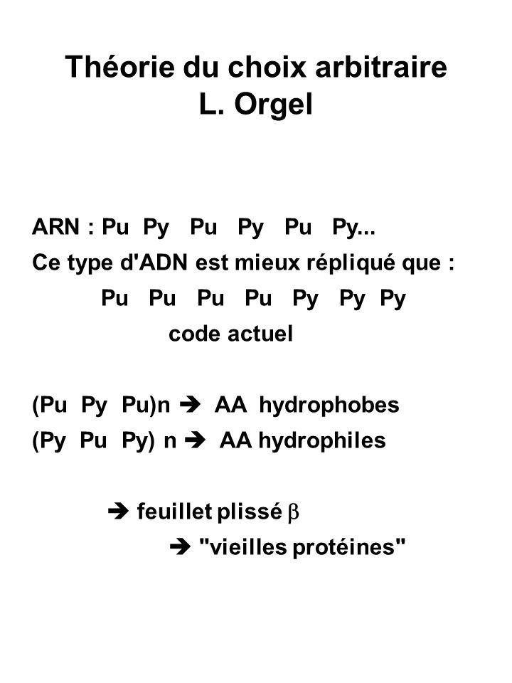 Théorie du choix arbitraire L. Orgel